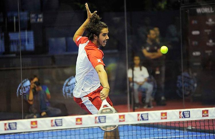 Martín Sánchez Piñeiro, en acción en el Estrella Damm Sevilla Open