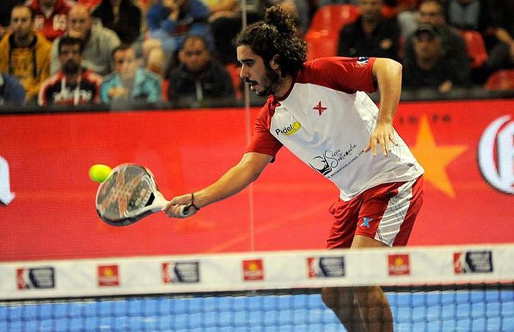 Martín Sánchez Piñeiro, en acción en el Galicia Open