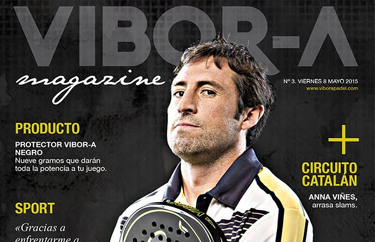 Maxi Grabiel, en la portada del Vibor-A Magazine