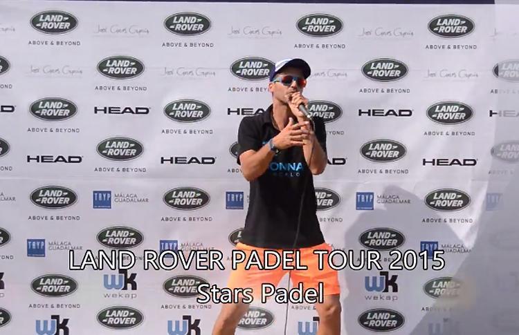 Salva Rambla, en su actuación en el Circuito Land Rover Pádel Tour