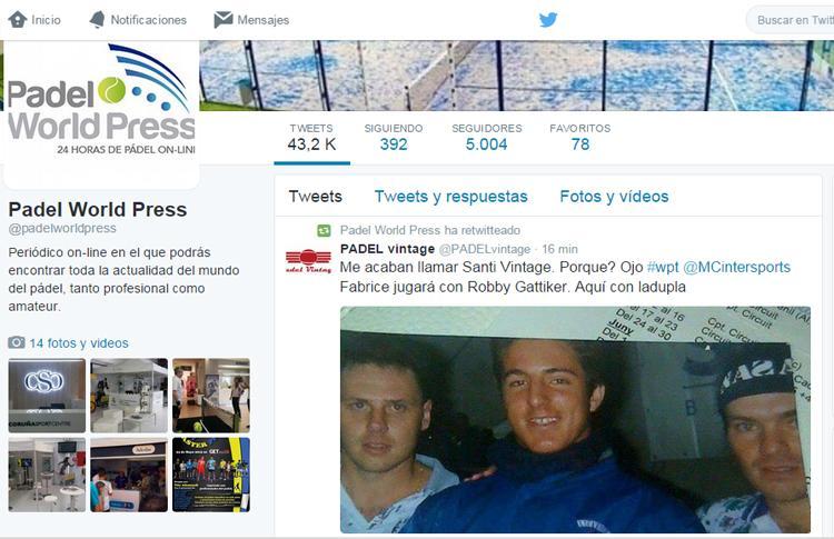 Padel World Press llega a los 5.000 seguidores en Twitter