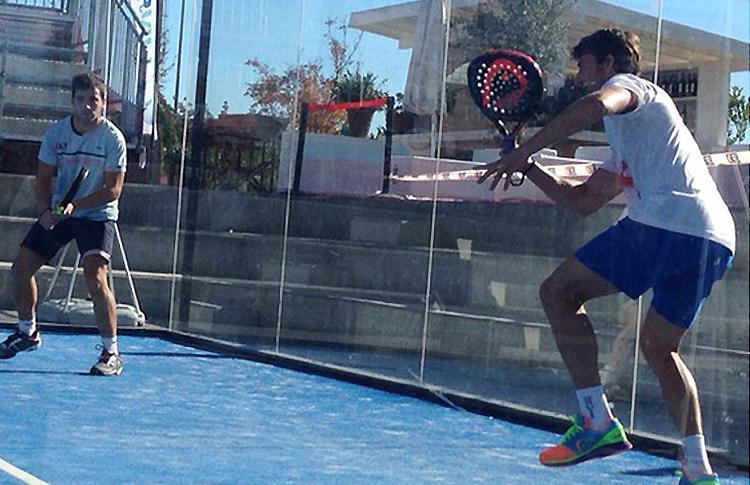 Juan Carlos Ferrero, en acción en el Barcelona Challenger