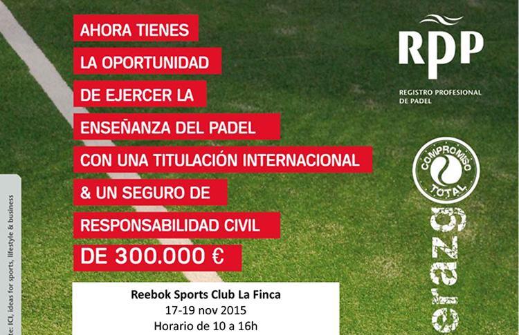 Curso del Registro Profesional de Pádel en el Reebok Sports Club La Finca