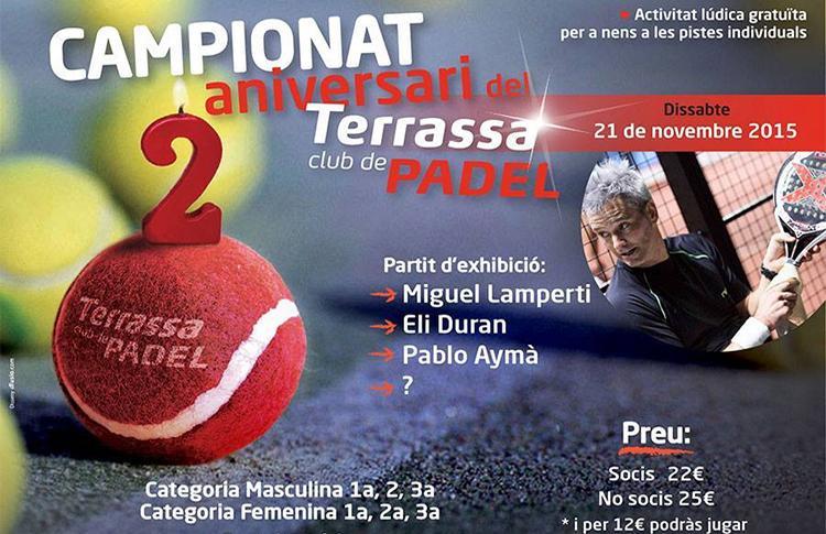 Fiesta de Segundo Aniversario del Club de Pádel Terrassa