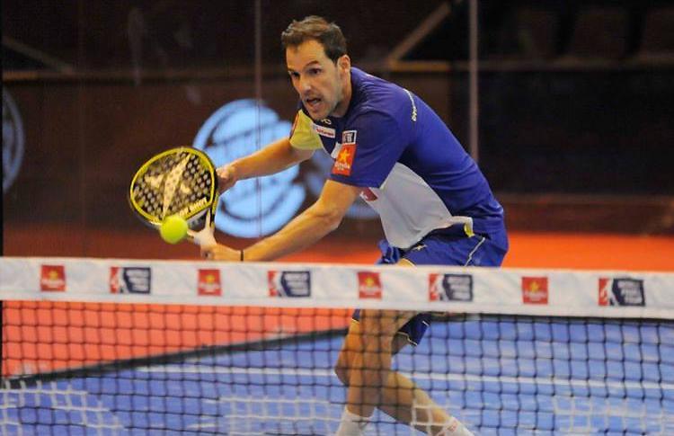Juan Martín Díaz, en acción en el Estrella Damm Másters Finals