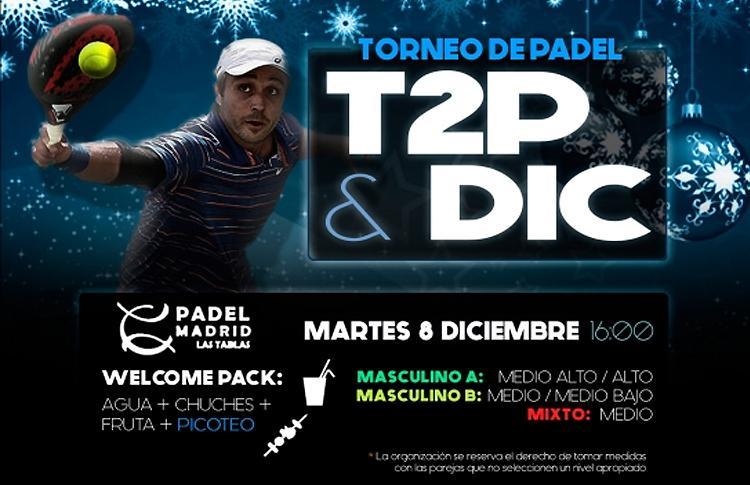 Cartel del Torneo de Time2Pádel en Padel Madrid Las Tablas