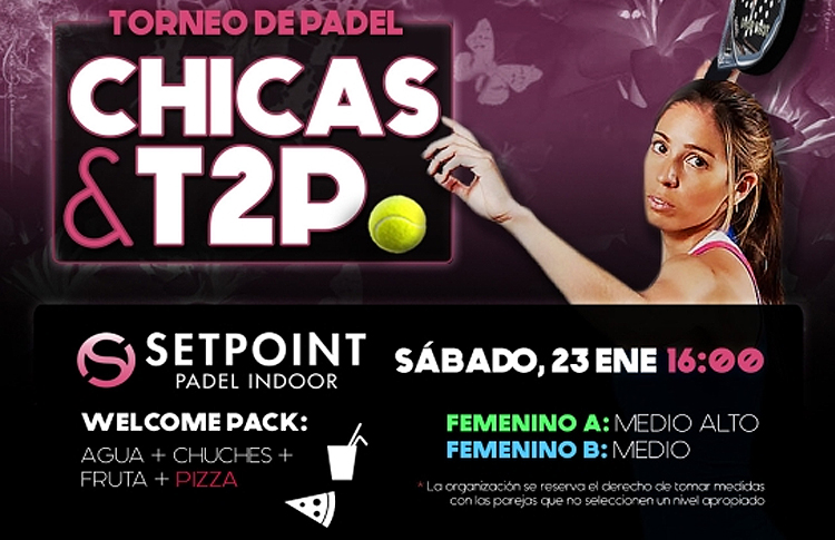 Cartel del Torneo Femenino de Time2Pádel en Set Point
