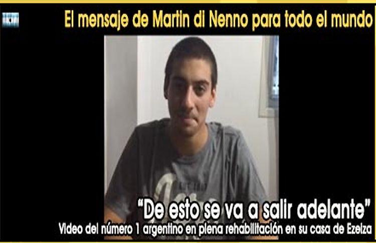 """Martín di Nenno: """"Estoy bien; de esto se va a salir adelante"""""""