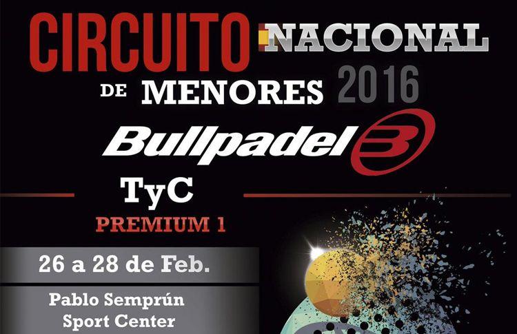 Se acerca el TyC Premium 1 del Circuito de Menores Bullpadel