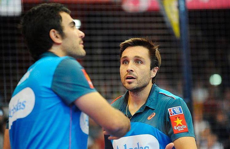 Fernando Belasteguín y Pablo Lima, en acción en el Gijón Open
