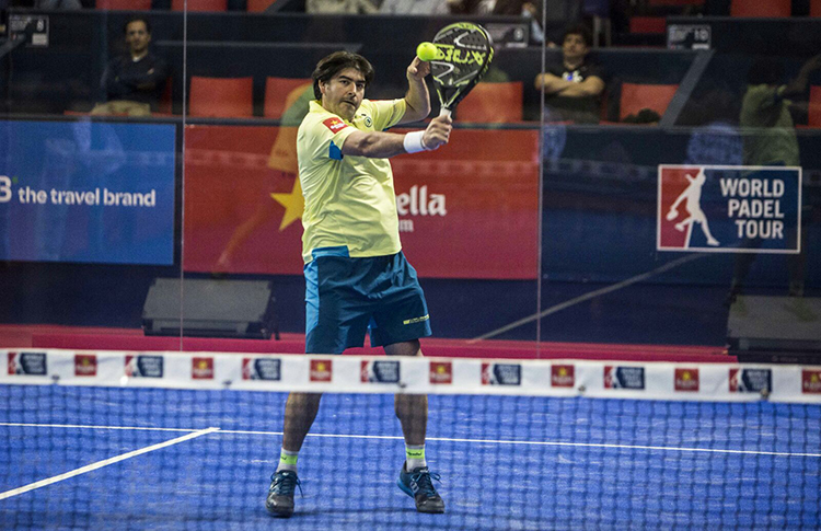Cristian Gutiérrez, en acción en el Estrella Damm Valencia Máster