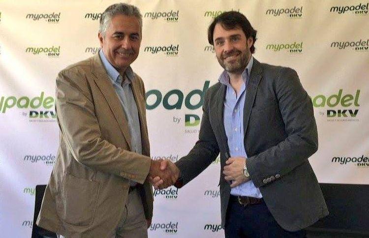 Miguel Matía y Miguel García, en la presentación de la App MyPadel by DKV