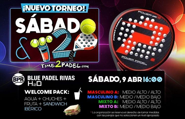 Cartel del torneo de Time2Pádel en BluPádel Rivas