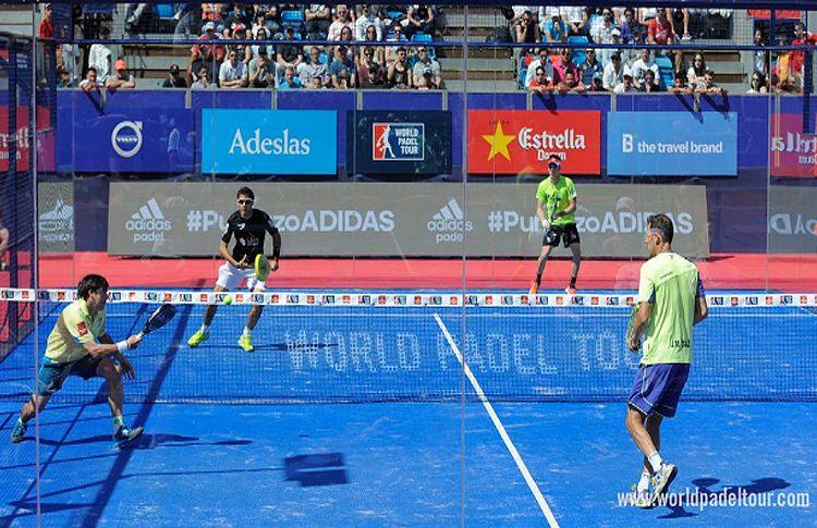 Juan Martín Díaz y Cristian Gutiérrez, en acción en el Estrella Damm Madrid Máster