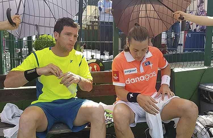 Andoni Bardasco, en acción en el Lisboa Challenger