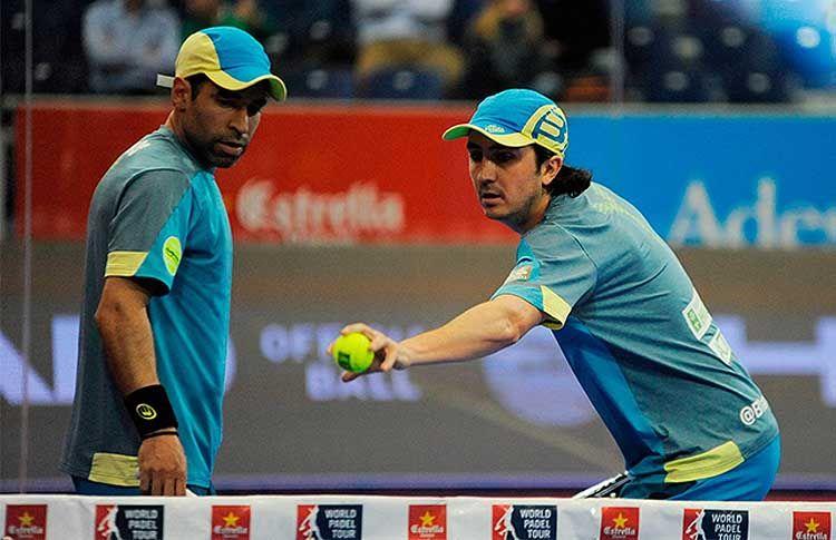 Adrián Blanco y Diego Ramos, en acción en el Estrella Damm Las Rozas Open