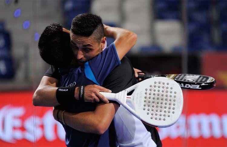 Chiqui Cepero-Pablo Lijó, en acción en el Estrella Damm Mallorca Open