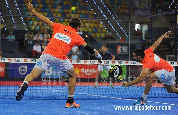 Fernando Belasteguín y Pablo Lima, en acción en el Gran Canaria Open