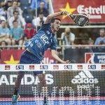 Chiqui Cepero, jugador de WingPádel, en acción en el Valladolid Open