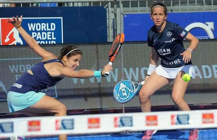 Eli Amatriain-Patty Llaguno, en acción en el Valladolid Open