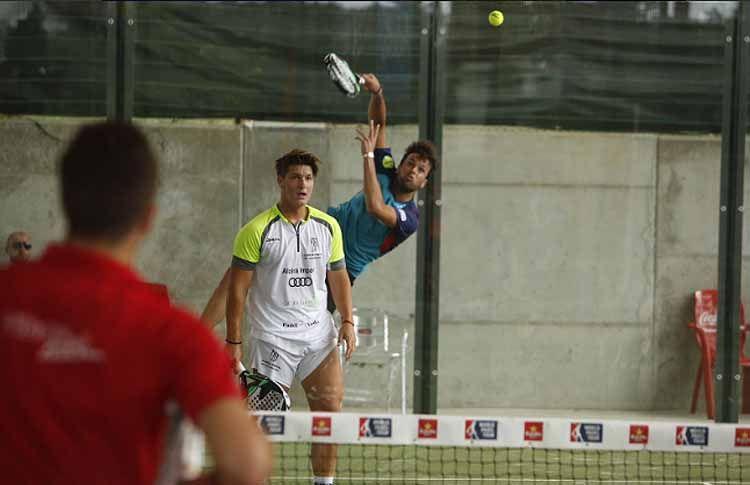 Rafa Méndez y Salva Oria, en acción en el Valladolid Open