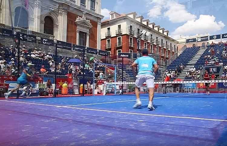 Matías Díaz-Maxi Sánchez, en acción en el Valladolid Open
