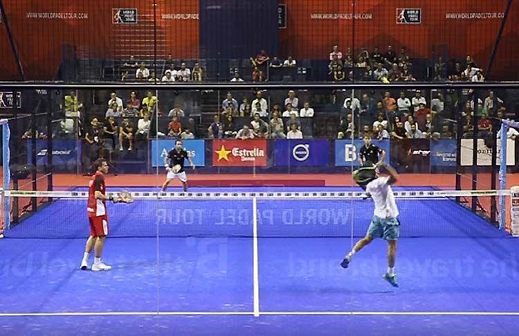 Paquito Navarro y Sanyo Gutiérrez, en acción en el Sevilla Open