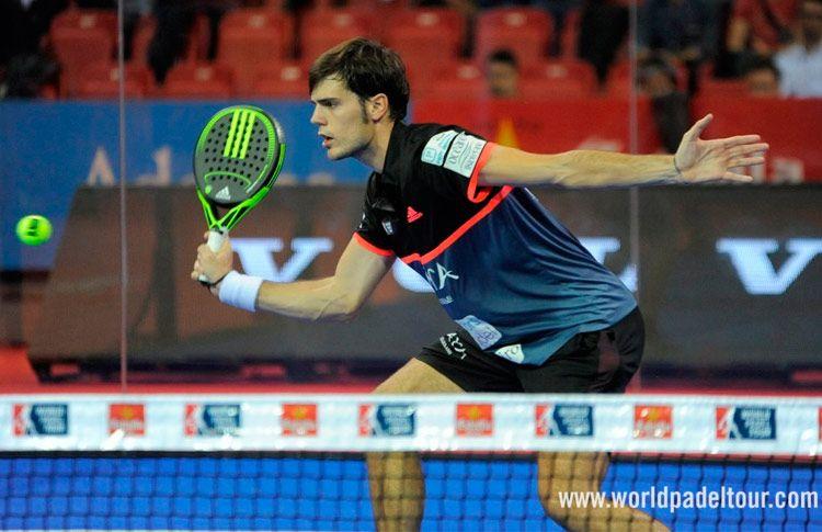 Javier Concepción, en acción en el Zaragoza Open