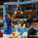 Miguel Lamperti, en acción en el A Coruña Open