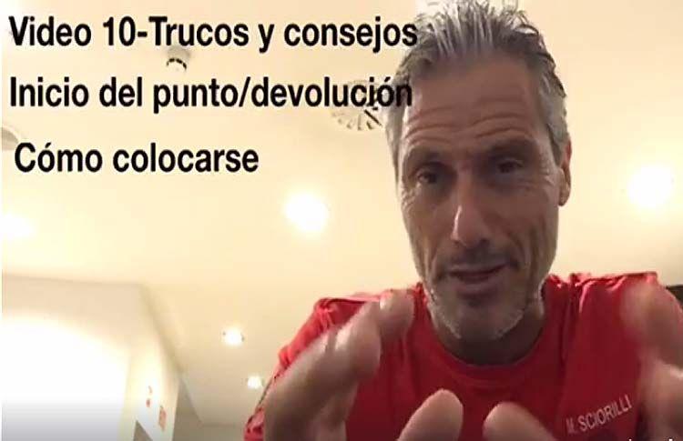 Consejos-trucos de Miguel Sciorilli (X): Cómo colocarse para devolver un saque