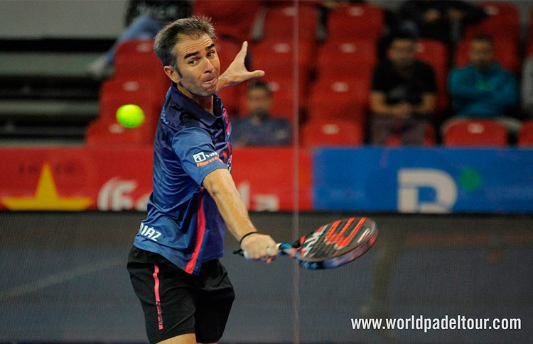 Raúl Díaz, en acción en el Zaragoza Open