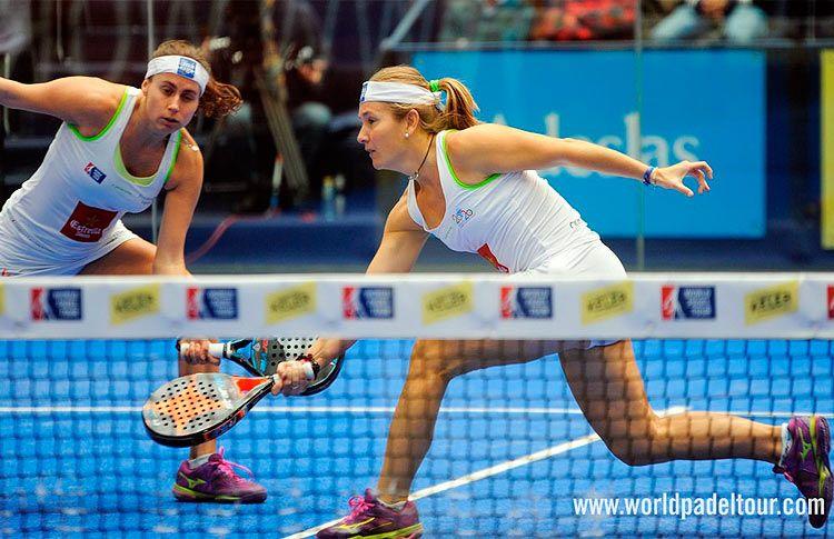 Carolina Navarro y Cecilia Reiter, en acción en el Keler Euskadi Open