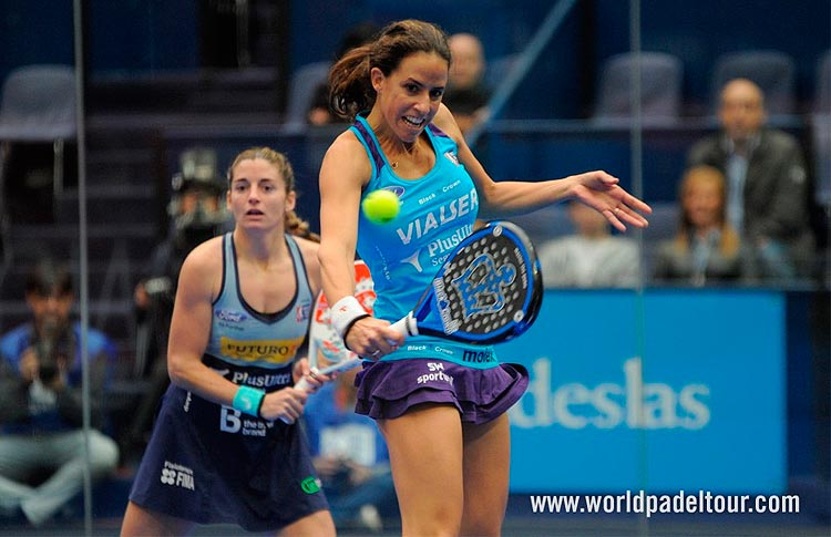 Alejandra Salazar-Marta Marrero, en acción en el Keler Euskadi Open