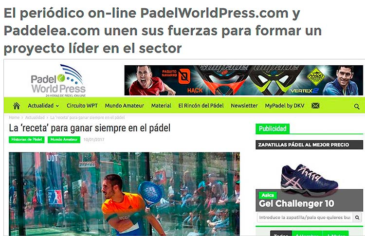 Alianza entre Padel World Press y Paddelea