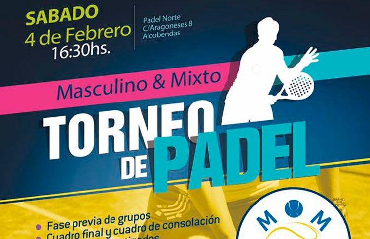 Cartel del Torneo de MOM Pádel en Pádel Norte