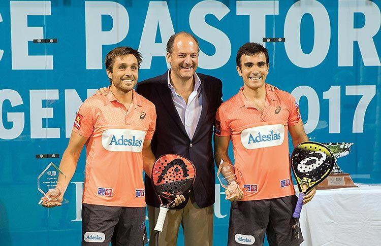 Fabrice Pastor, junto a Fernando Belasteguín y Pablo Lima en el Final Round 3 de la Fabrice Pastor Cup