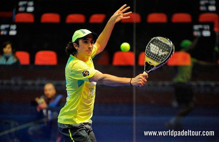 Adrián Blanco, en acción en el Santander Open 2017