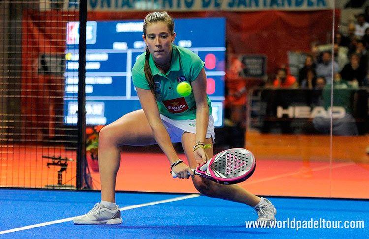 Marta Ortega, en acción en el Santander Open 2017