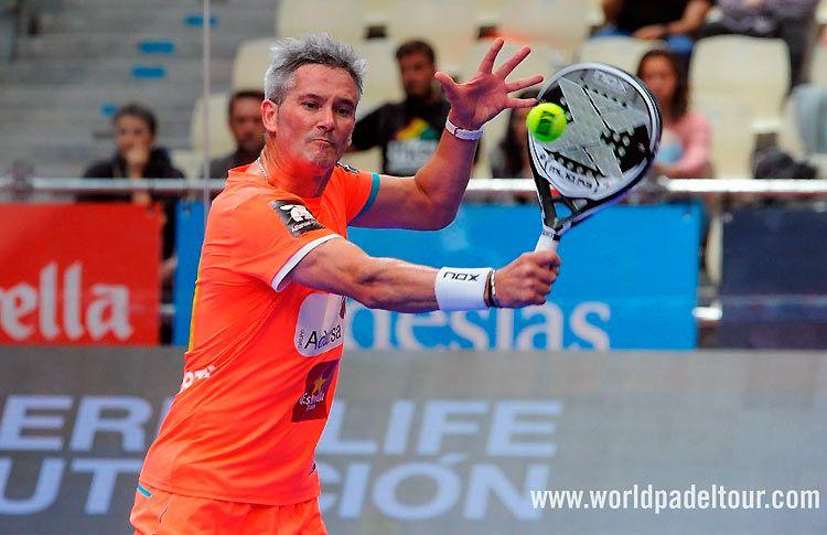 Miguel Lamperti, en acción en el A Coruña Open 2017