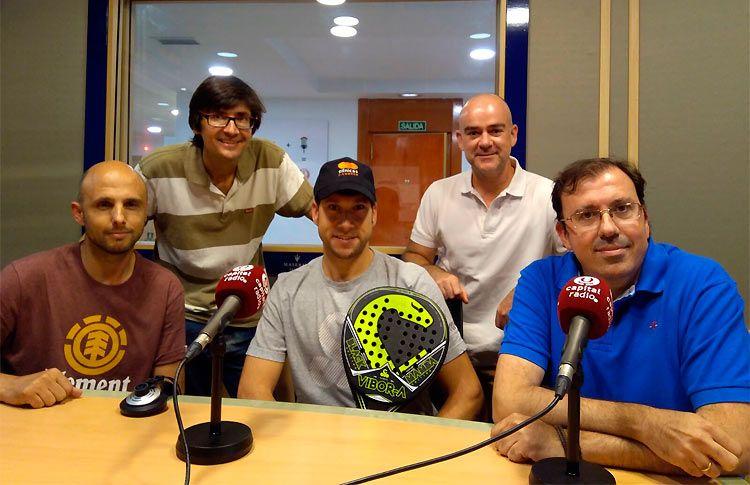 Nacho Gadea y Javier Cuenca, en el programa 'Esto es Pádel'