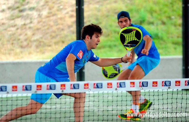 Javier Garrido-Javier González Barahona, en acción en la Pre-Previa del Valladolid Open 2017