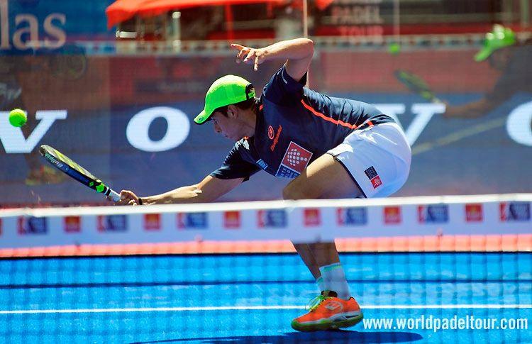 Juan Tello, en acción en el Valladolid Open 2017