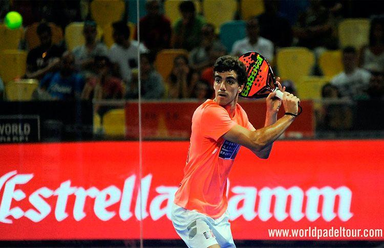 Juan Lebrón, en acción en el Gran Canaria Open 2017
