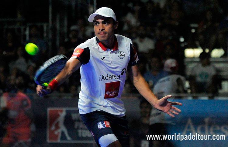 Juani Mieres, en acción en el Costa del Sol Open 2017
