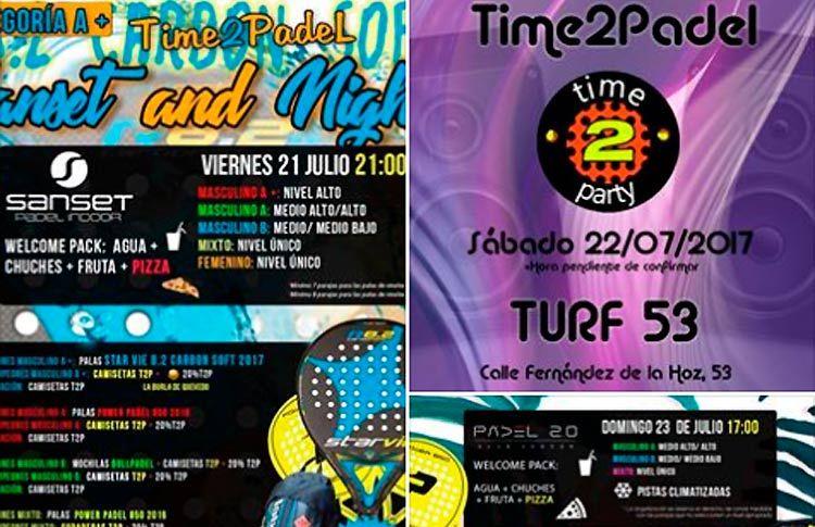 Próximos torneos de Time2Pádel