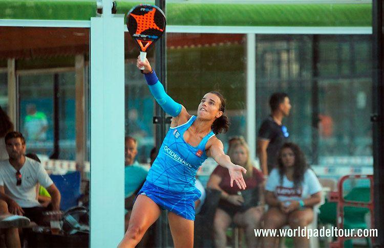 Ana Catarina Nogueira, en acción en el Estrella Damm Alicante Open 2017