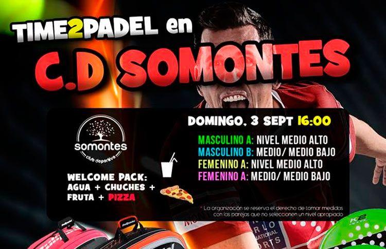 Time2Pádel, listo para comenzar una nueva etapa en el CD Somontes