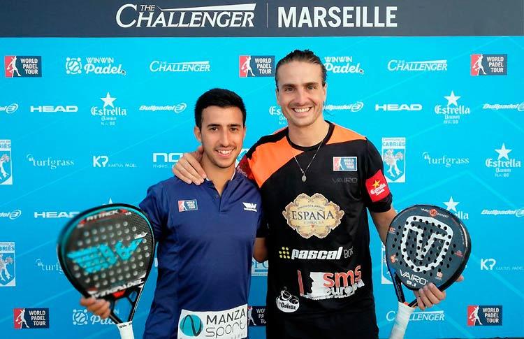 Fede Quiles-Chiqui Cepero, en acción en el Marsella Challenger 2017