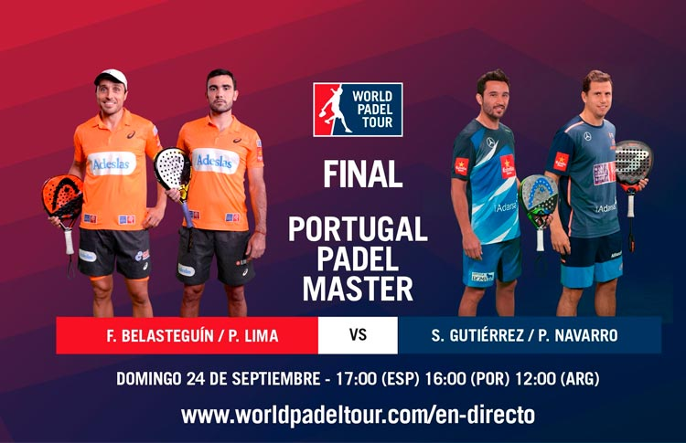 Sigue la final del Portugal Padel Master, EN DIRECTO