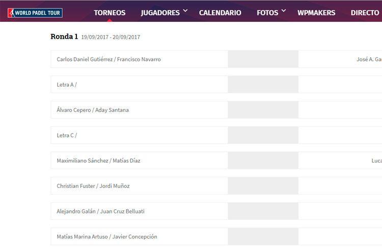 Portugal Padel Master: Habrá duelos vibrantes desde primera ronda
